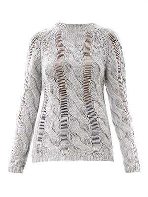 Twisted cable-knit sweater
