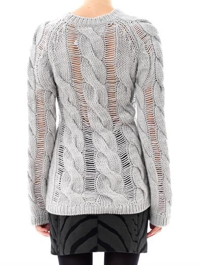 Carven Twisted cable-knit sweater