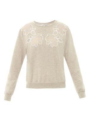 Floral neckline sweatshirt