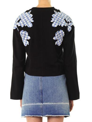 Carven Floral patchwork cotton sweatshirt