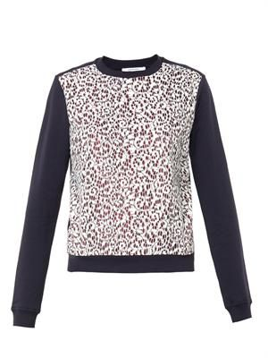 Cornelis-lace cotton sweatshirt