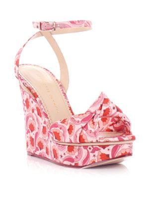 Miranda mermaid-print wedges