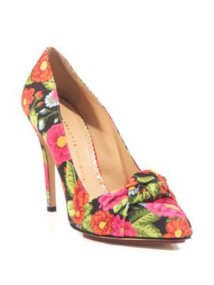 Ava flower-print pumps