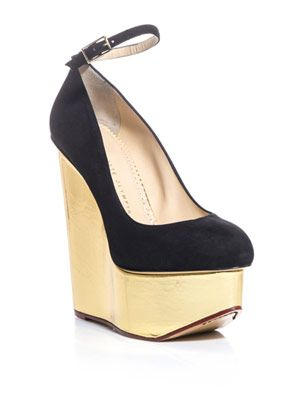 Carmen signature wedge pumps