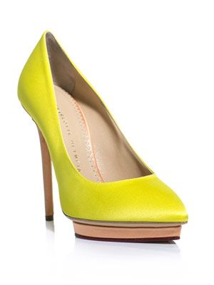 Debonaire neon shoes