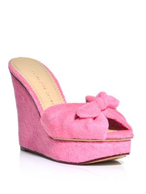 Jayne towelling wedges