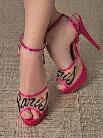 Charlotte Olympia Paris satin shoes