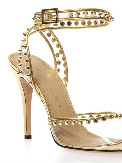 Charlotte Olympia Soho studded PVC sandals