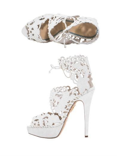 Charlotte Olympia Belinda suede cut out sandals