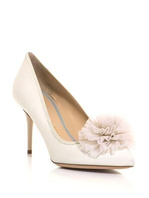 Desiree silk-twill shoes