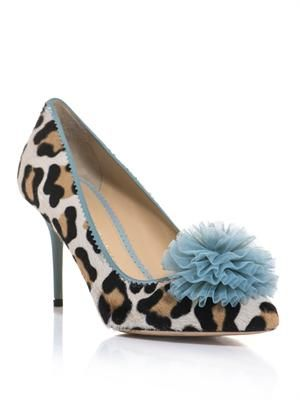 Desiree leopard calf-hair shoes