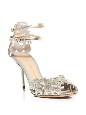 Margherita metallic leather sandals