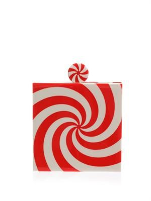 Swirl perspex box clutch