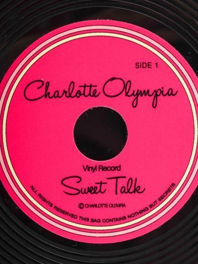 Charlotte Olympia Vinyl record clutch