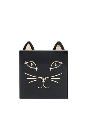 Kitty Perspex clutch