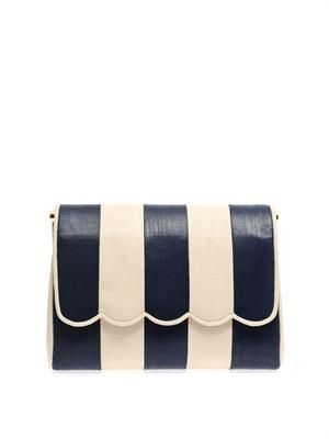 Life's A Beach striped clutch
