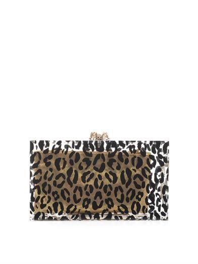 Charlotte Olympia Pandora leopard-print clutch