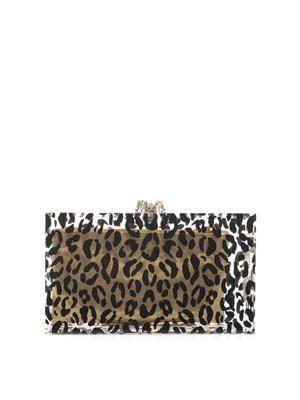 Pandora leopard-print clutch