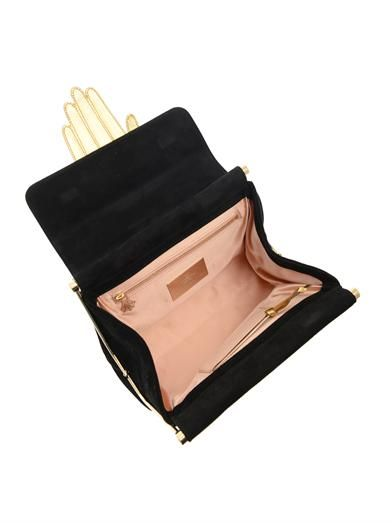 Charlotte Olympia The Hand Bag suede clutch