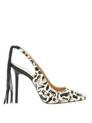 Frisky leather slingback pumps