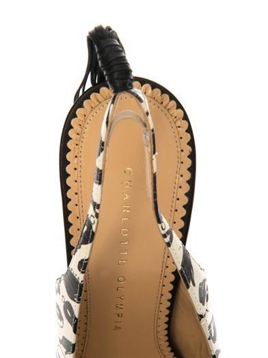 Charlotte Olympia Frisky leather slingback pumps