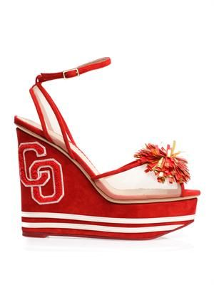 Team spirit wedge sandals