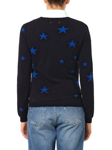 Chinti and Parker Stars intarsia cashmere sweater