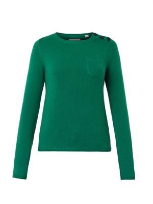 Star-button cashmere sweater