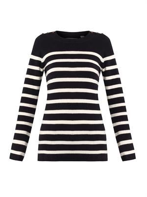 Guernsey striped cashmere sweater