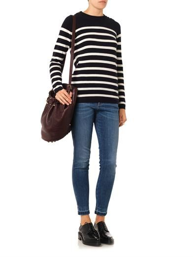Chinti and Parker Guernsey striped cashmere sweater