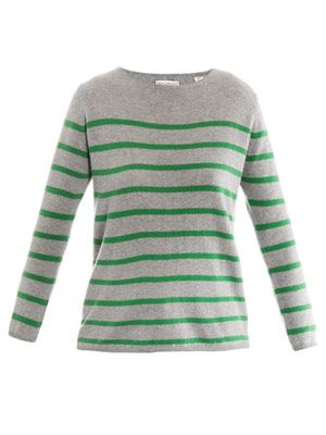 Stripe cashmere sweater