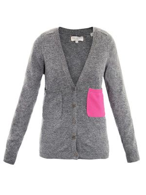 Contrast pocket cardigan
