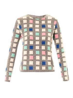 Grid cashmere sweater