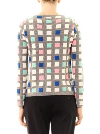 Chinti and Parker Grid cashmere sweater