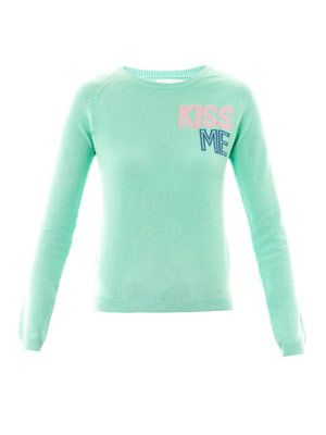 Exclusive Kiss Me cashmere sweater