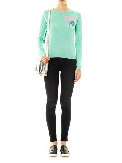 Chinti and Parker Exclusive Kiss Me cashmere sweater