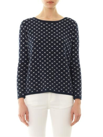 Chinti and Parker Crosses cotton sweater