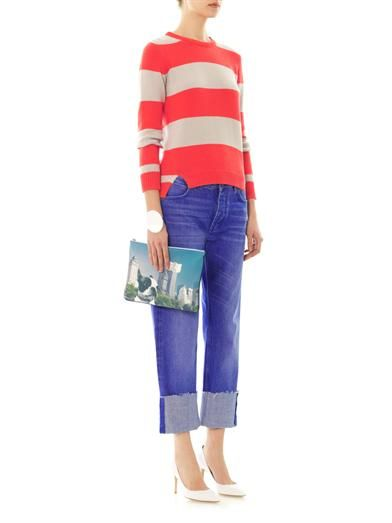 Chinti and Parker Striped cotton-knit sweater