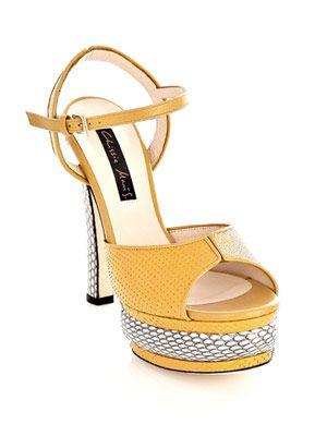 Farrah python and stingray sandals