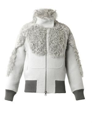 MARC JACOBS Shearling-trimmed bomber jacket