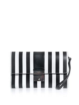 Isobel stripe clutch