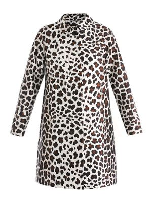 Satin leopard-print coat
