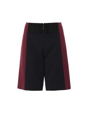 Double-faced piqué board shorts