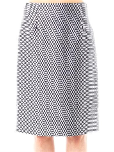 Marc Jacobs Satin fishnet-print pencil skirt