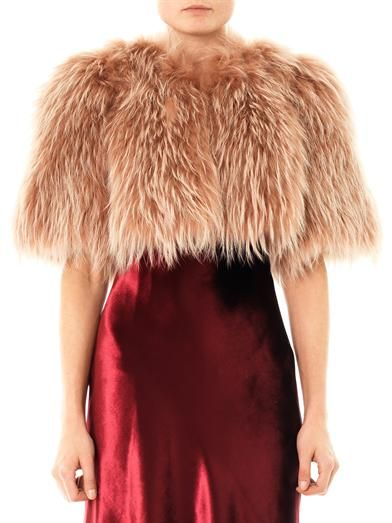 Marc Jacobs Cropped fur jacket