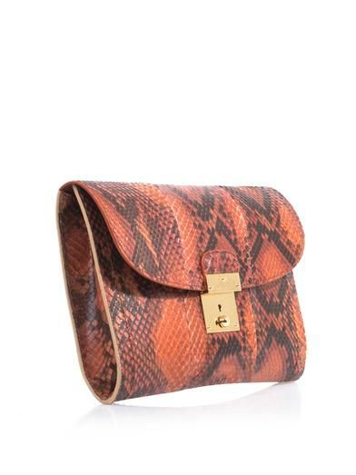 Marc Jacobs Isobel python clutch