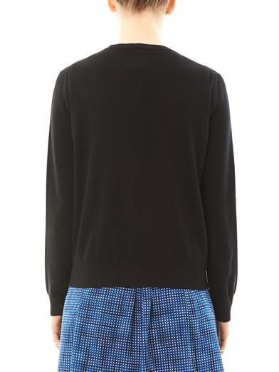 Marc Jacobs Embellished wool-cashmere cardigan