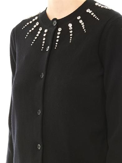 Marc Jacobs Embellished wool-cashmere cardigan