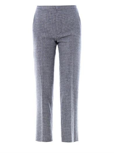 Marc Jacobs Mini-plaid tweed trousers