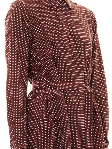 Marc Jacobs Gingham sketch-print silk dress